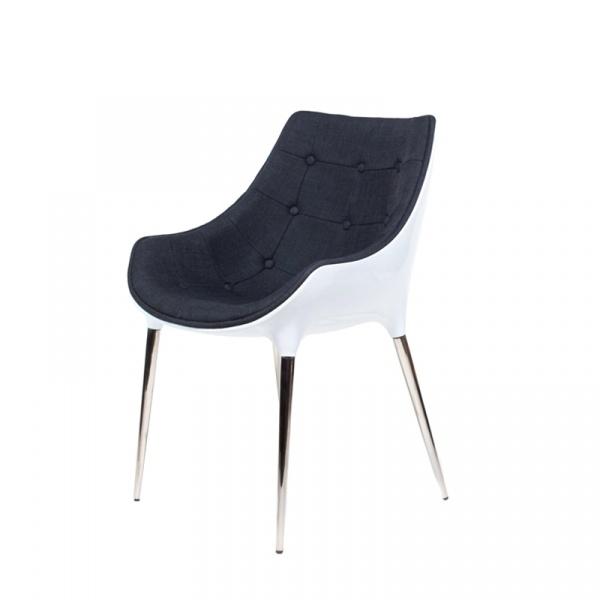 Krzesło King Bath Philippe Passion tkanina czarna EV-KA-051.CZ.B