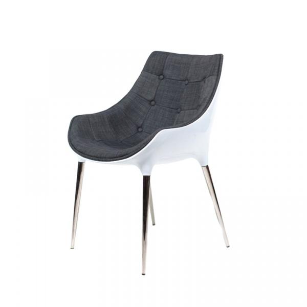 Krzesło King Bath Philippe Passion tkanina szara EV-KA-051.SZ.B