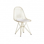 Krzesło King Home DSR Net Gold złote
