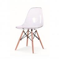 Krzesło King Home Ice Wood przezroczyste