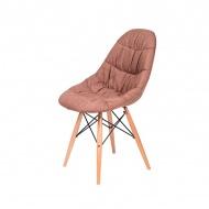 Krzesło King Home Rugo brązowe