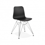 Krzesło Kokoon Design Fifi czarne nogi srebrne