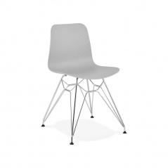 Krzesło Kokoon Design Fifi szare nogi srebrne