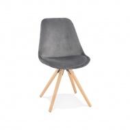 Krzesło Kokoon Design Jones szare nogi naturalne
