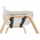 Krzesło Kokoon Design Monark białe nogi naturalne
