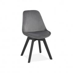 Krzesło Kokoon Design Phil szare nogi czarne