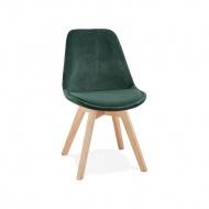 Krzesło Kokoon Design Phil zielone nogi naturalne