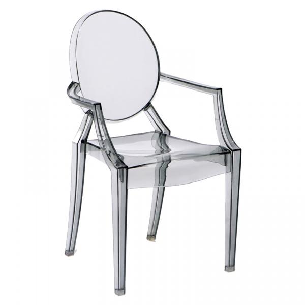 Krzesło Louis Victoria Ghost Royal inspirowane transparentny szary 5902385708746