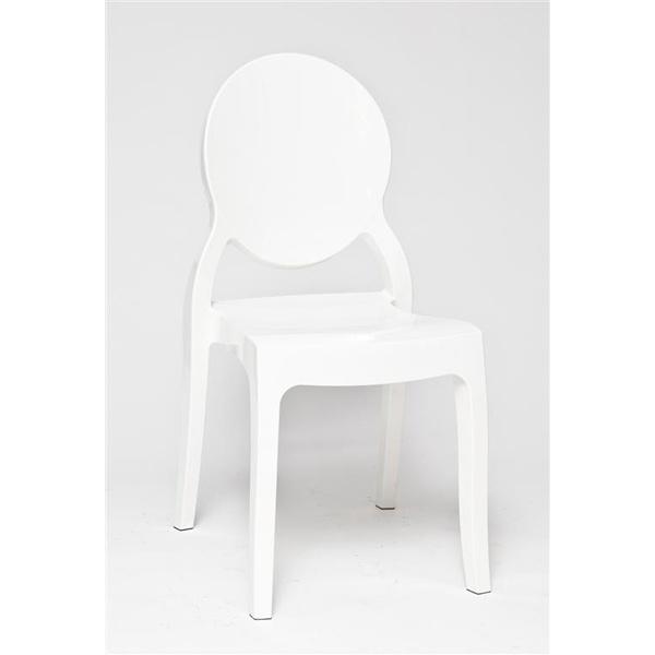 Krzesło Mia White Glossy DK-3419