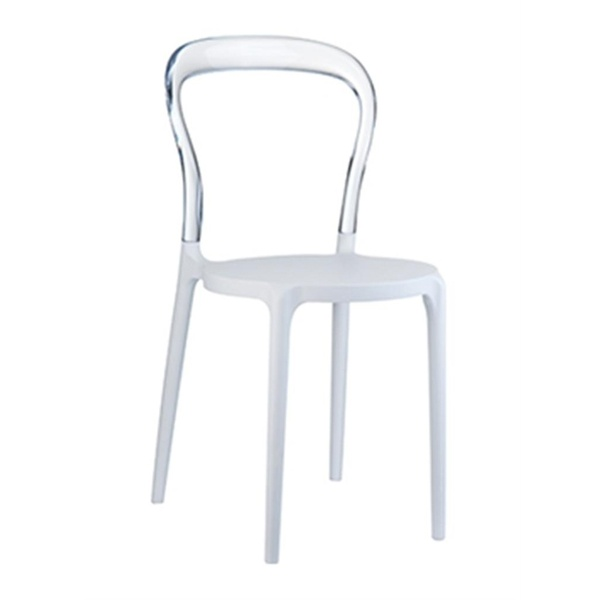 Krzesło Mr. Bobo white-seat, clear trans 5902385706629