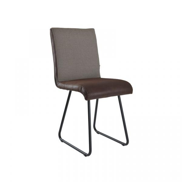 Krzesło na płozach Gie El Botanica ciemnobrązowy FST0221