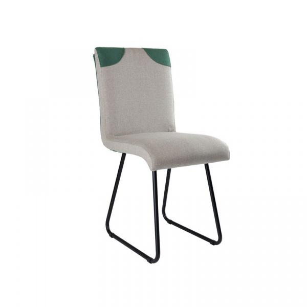 Krzesło na płozach Gie El Botanica szary FST0220