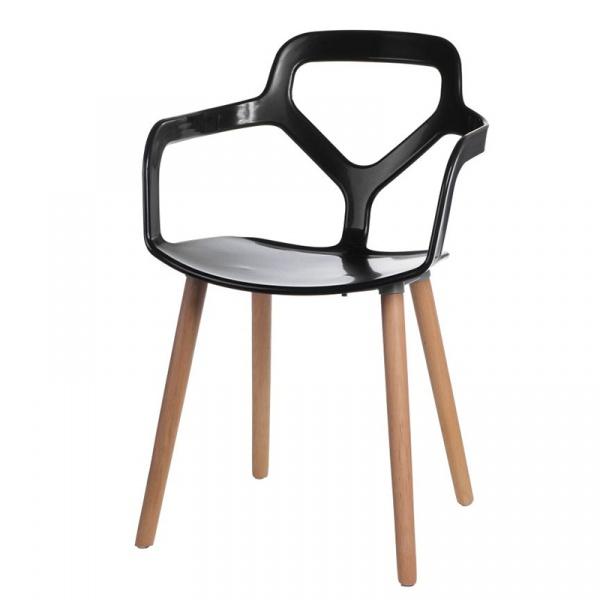Krzesło Nox Wood czarne DK-41975