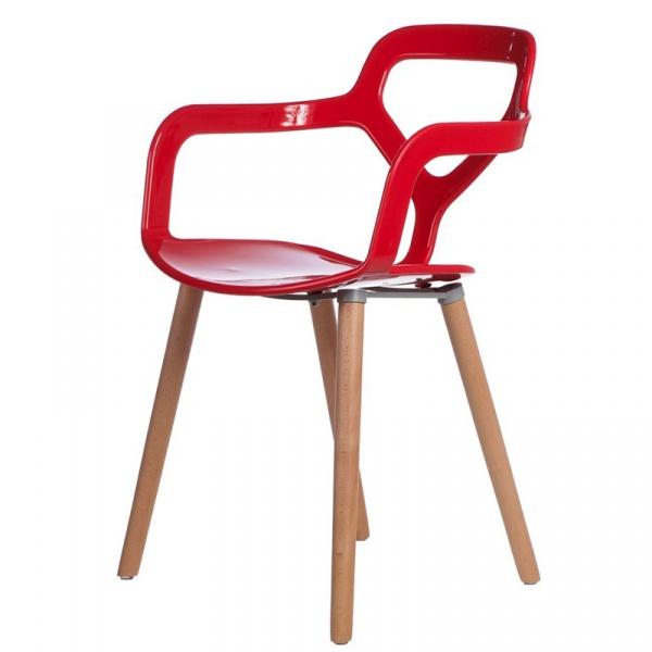 Krzesło Nox Wood czerwone DK-41979