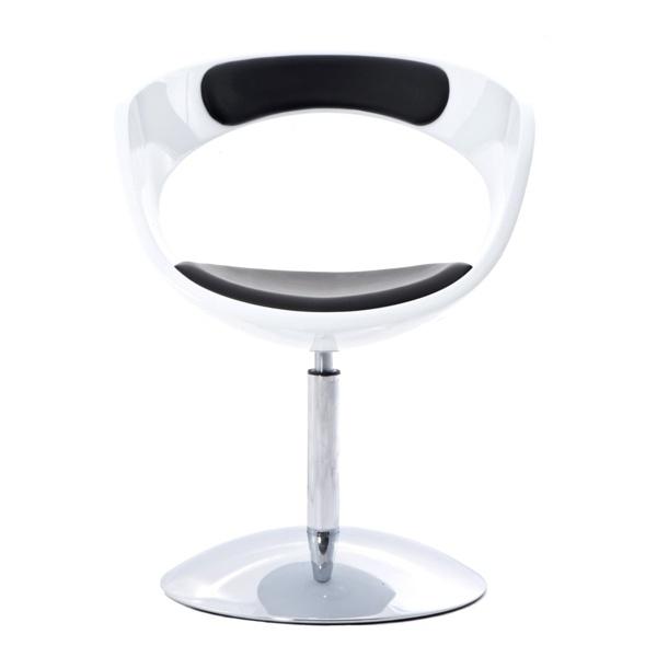 Krzesło obrotowe FLOP D2 biało-czarne DK-24481