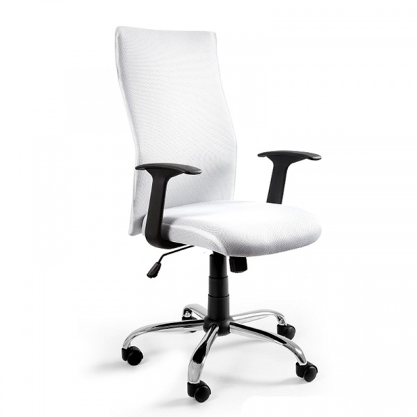 Krzesło obrotowe UNIQUE Black on Black białe W-93a-0