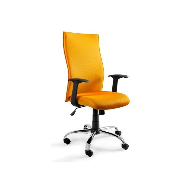 Krzesło obrotowe UNIQUE Black on Black żółte W-93A-10