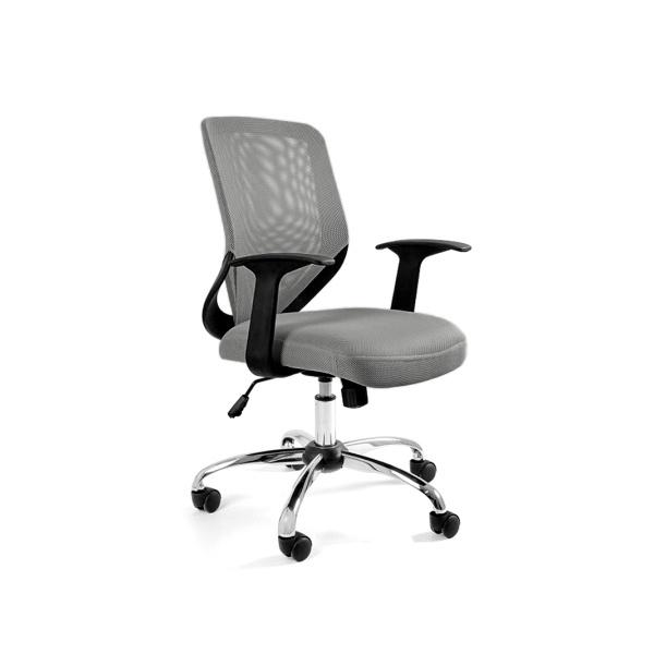 Krzesło obrotowe Unique Mobi szare W-95-8