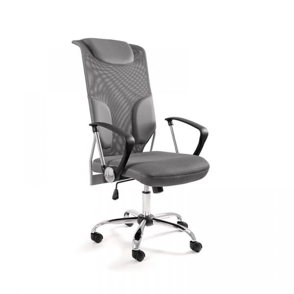 Krzesło obrotowe UNIQUE Thunder szare W-58-8