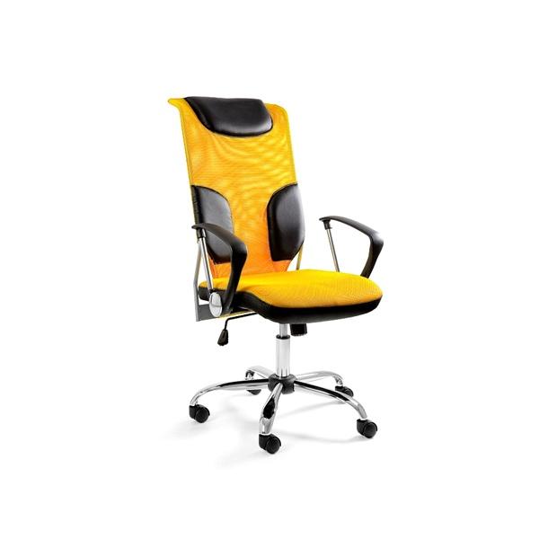 Krzesło obrotowe UNIQUE Thunder żółte W-58-10