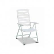 Krzesło ogrodowe 106x60cm Alpin MFG białe