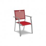 Krzesło ogrodowe 50x88cm Acatop Acamp platyna/bordo