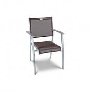 Krzesło ogrodowe 50x88cm Acatop Acamp platyna/kawa