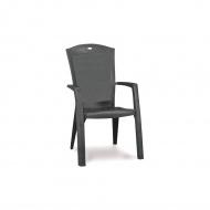 Krzesło ogrodowe 65x61x99cm Bazkar Minnesota Dining Antracyt/szary
