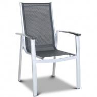 Krzesło ogrodowe 98x62cm Monza Testrut srebrno-czarne