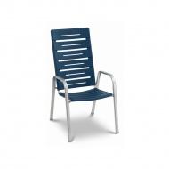 Krzesło ogrodowe sztaplowane 106x59cm Alpha Acamp srebrno-niebieskie