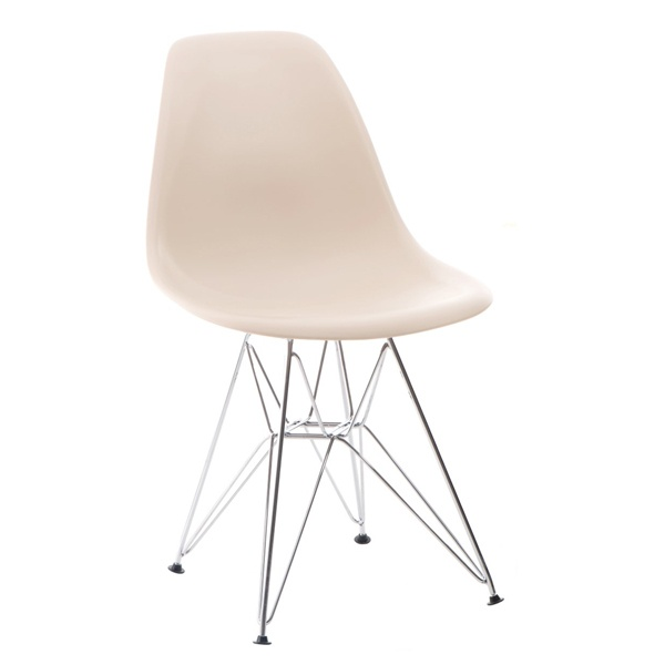 Krzesło P016 PP beige, chromowane nogi DK-24204