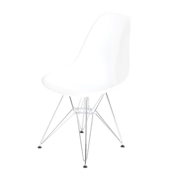 Krzesło P016 PP białe, chromowane nogi DK-24198