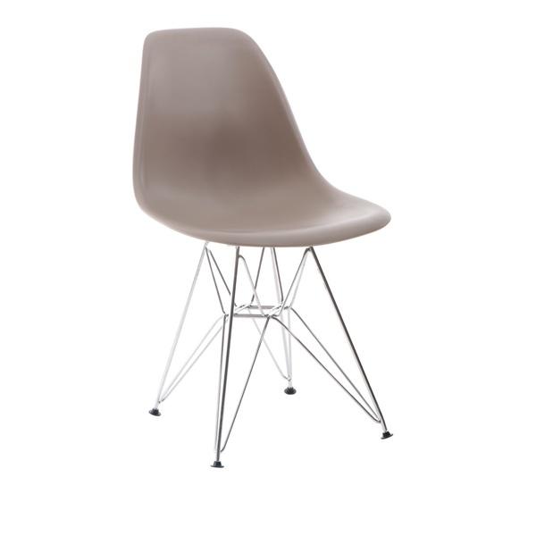 Krzesło P016 PP mild grey, chromowane nogi DK-24216