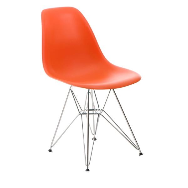 Krzesło P016 PP pomaranczowe, chromowane nogi DK-24225