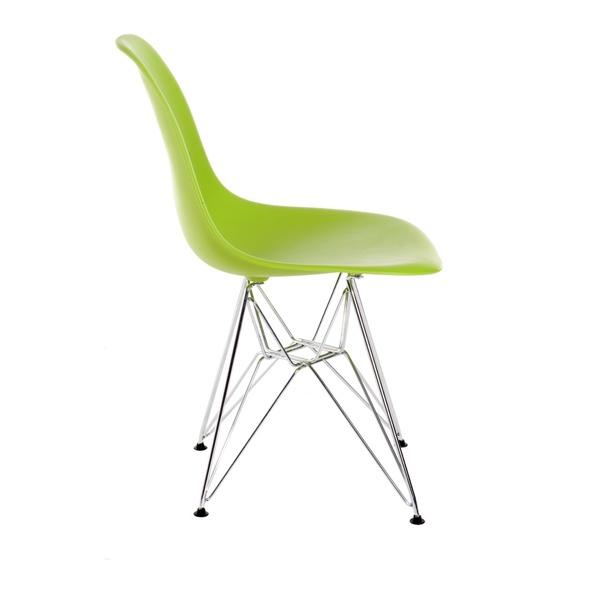 Krzesło P016 PP zielone, chromowane nogi DK-24228