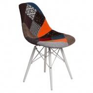 Krzesło P016W Patchwork D2 wielokolorowe/białe