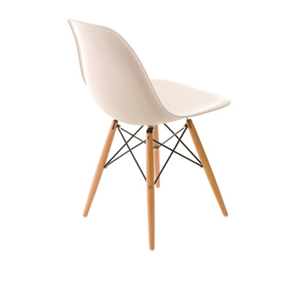 Krzesło P016W PP beige, drewniane nogi DK-24240