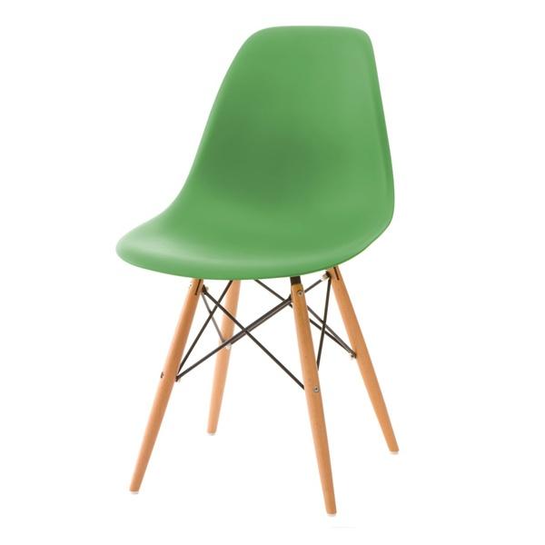 Krzesło P016W PP ciemno zielone, drewnia ne nogi 5902385707718