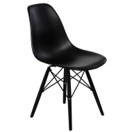 Krzesło P016W PP D2.Design czarne