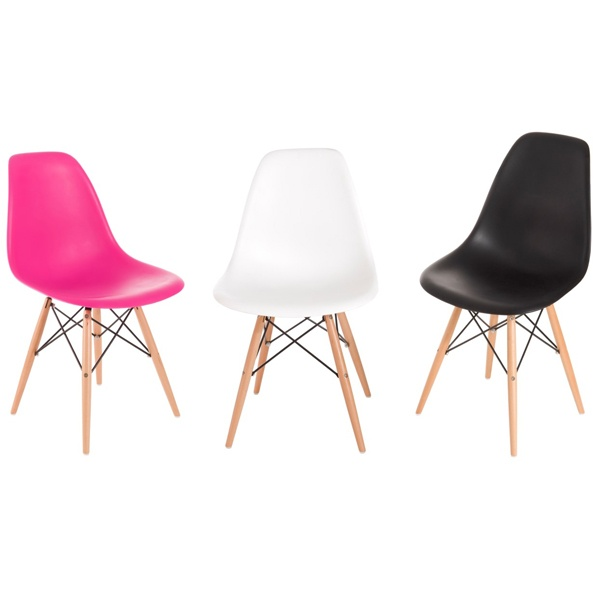 Krzesło P016W PP dark pink, drewniane nogi DK-24252