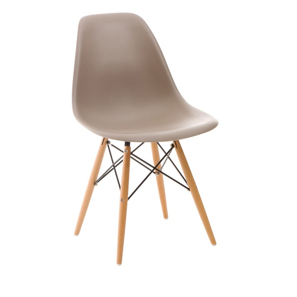 Krzesło P016W PP mild grey, drewniane nogi DK-24255