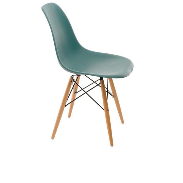 Krzesło P016W PP navy green, drewniane nogi DK-24258