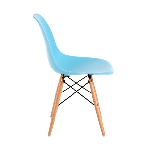 Krzesło P016W PP ocean blue, drewniane nogi DK-24261