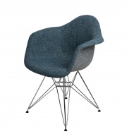 Krzesło P018 DAR Duo D2 granatowo-szare