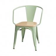 Krzesło Paris Arms Wood D2 sosna naturalna/jasnozielone