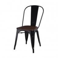 Krzesło Paris Wood D2 czarne/sosna orzech