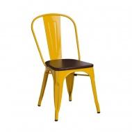 Krzesło Paris Wood D2 żółte/sosna orzech
