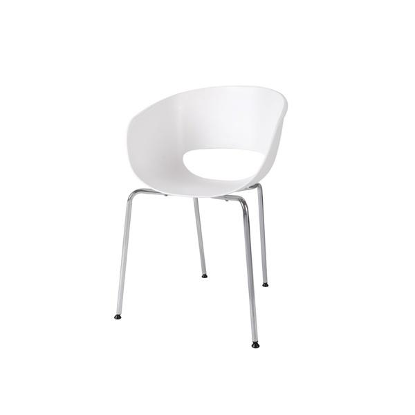 Krzesło Shell białe DK-23588