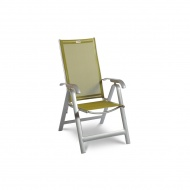 Krzesło składane Acatop Acamp 115x47cm platyna/oliwka