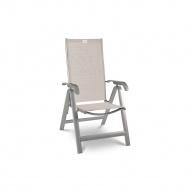 Krzesło składane Acatop Acamp 115x47cm platyna/piasek